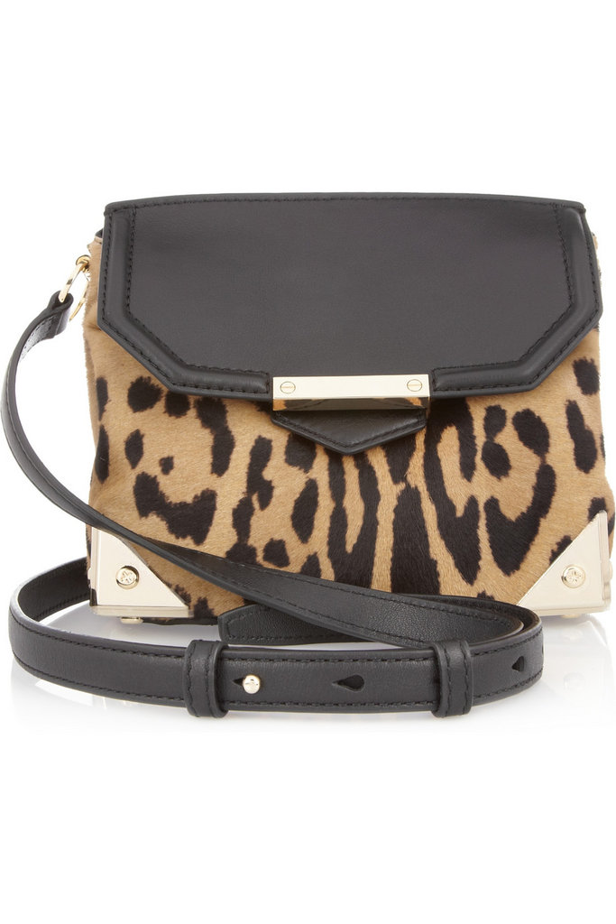You can never go wrong with a little Alexander Wang, especially a piece that injects a great pop of leopard print. Alexander Wang Marion Animal-Print Shoulder Bag ($745)