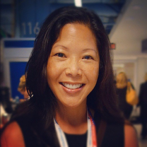 We interviewed some Republican women attending the convention, including Deborah Wong (pictured here) from California.