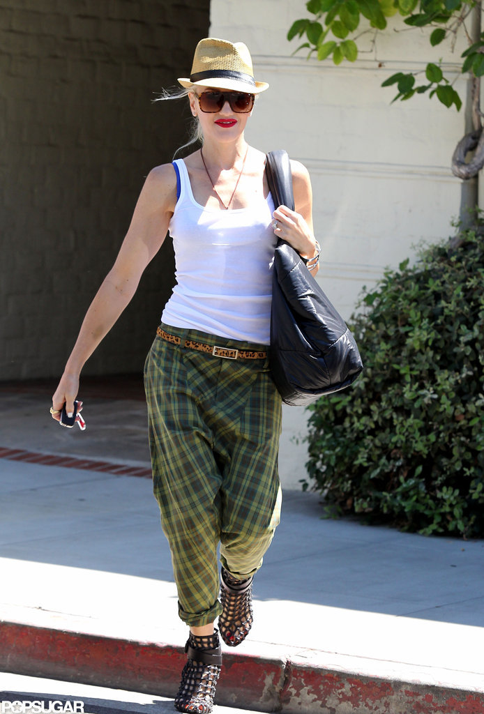 Gwen Stefani was all smiles in Beverly Hills.