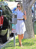 Kate Bosworth wore a belted dress in West Hollywood.