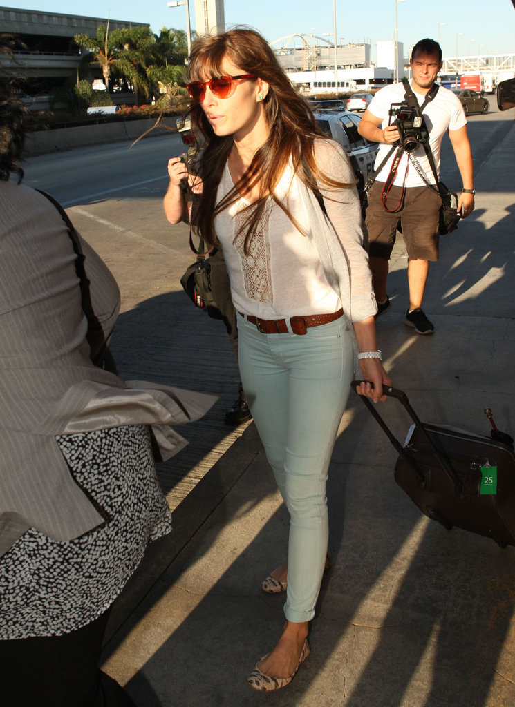 Jessica Biel touched down at LAX.