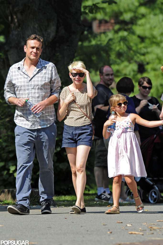 Jason Segel and Michelle Williams took Matilda to the Bronx Zoo.