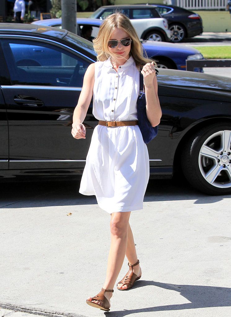 Kate Bosworth wore her blond locks down while heading to a nail appointment.