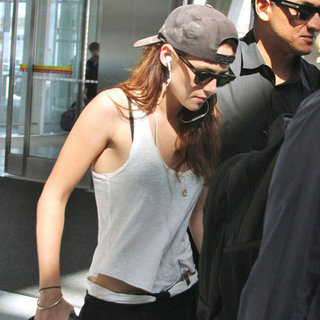 Kristen Stewart Wearing a Tank Top in Toronto