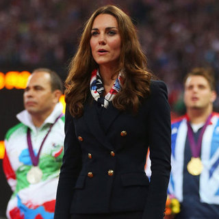 Kate Middleton in Scarf and Blazer Pictures