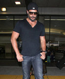 Joe Manganiello left LAX after landing.