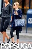Ashley Olsen wore workout apparel while out in NYC.