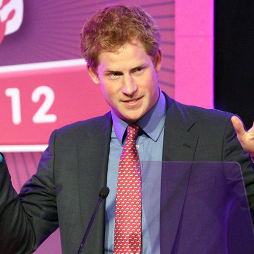 Prince Harry Makes Speech And Jokes About Nude Scandal