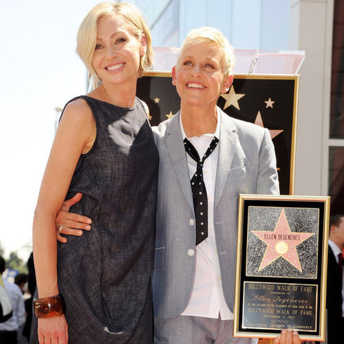 Ellen DeGeneres Gets Star On Hollywood Walk of Fame With Portia, Mum And Ryan Seacrest