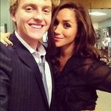 Meghan Markle and Max Topplin spent time together on the set of Suits. Source: Instagram user meghanmarkle