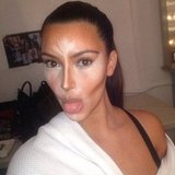 Kim Kardashian got her makeup contoured. Source: Instagram user kimkardashian