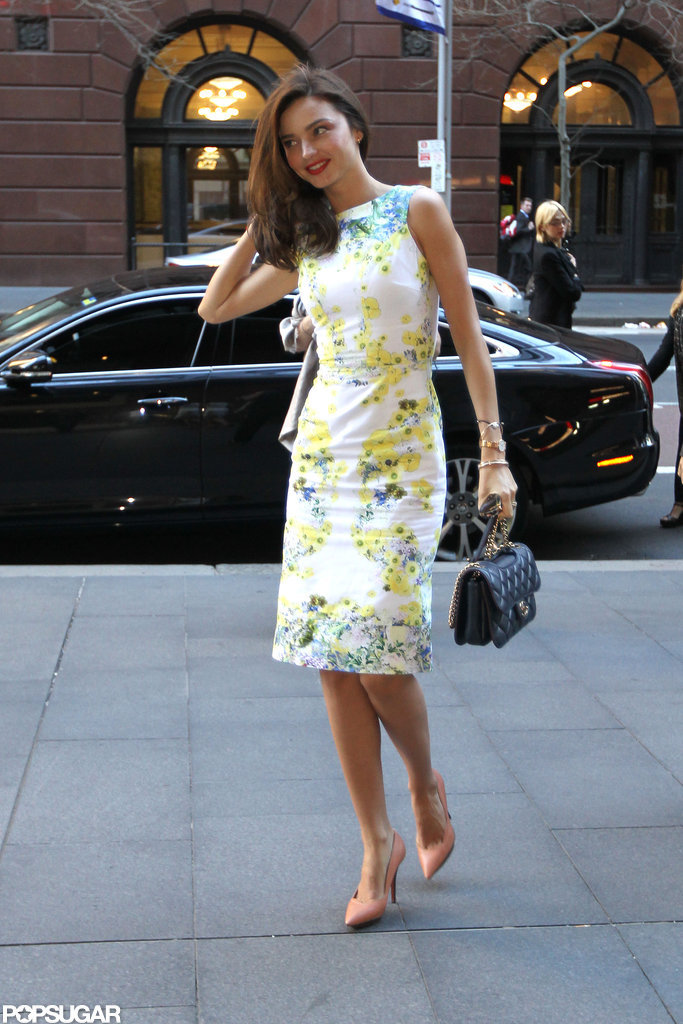 Miranda Kerr Struts Through Sydney in Fresh Florals
