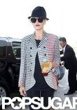 Gwen Stefani got out of a car at LAX.