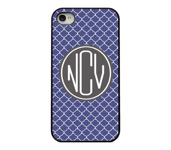 Monogram Moroccan Pattern iPhone Case ($17)