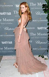 Madisen Beaty put on the ritz via a rose gold Alberta Ferretti gown.