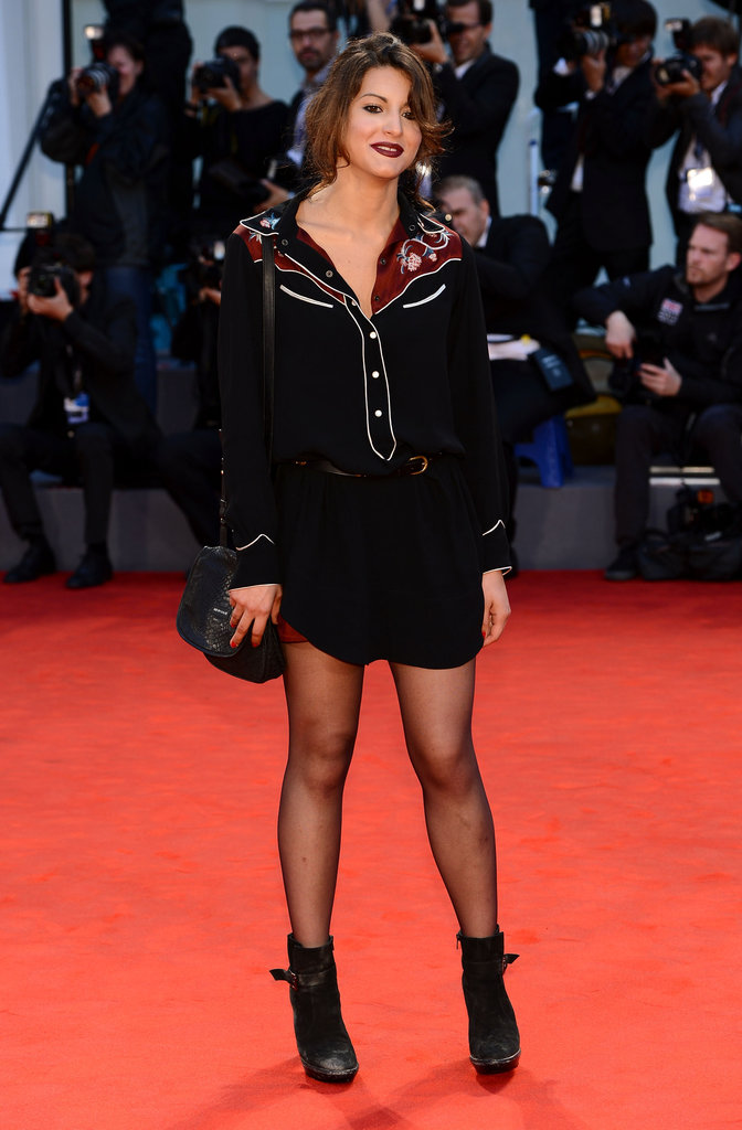 Carole Combes wore Isabel Marant's cool-girl western wares to the premiere of Apres Mai.