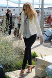 Blake Lively was spotted in a cool white blazer over the weekend.