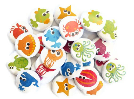 Ocean Animal Buttons (24 for $8)