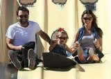 Alessandra Ambrosio and Jamie Mazur went on a slide with daughter Anja at the Malibu Chili Cook Off on Sunday.