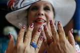 This lady got patriotic with her nail art.
