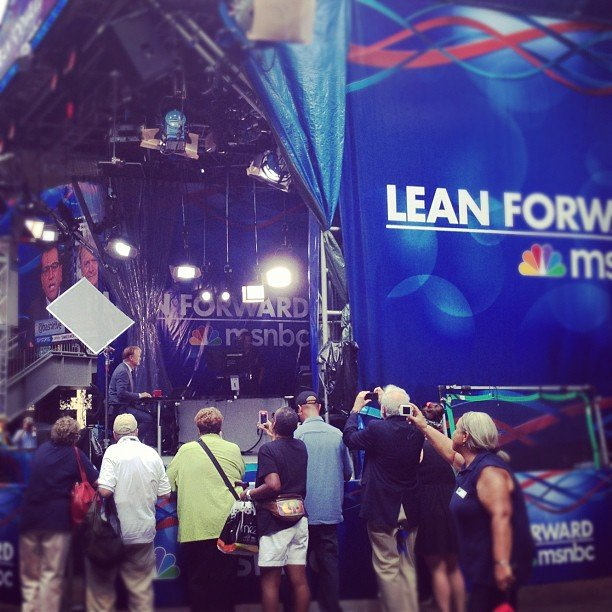 MSNBC set up shop in Charlotte's EpiCentre.