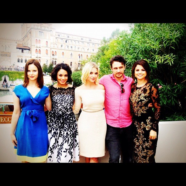 Ashley Benson hit the Venice Film Festival with her Spring Breakers costars Selena Gomez, James Franco, Vanessa Hudgens, and Rachel Korine. Source: Instagram user itsashbenzo