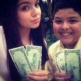 Ariel Winter and Rico Rodriguez showed off their dolla dolla bills on the set of Modern Family. Source: Instagram user arielwinter