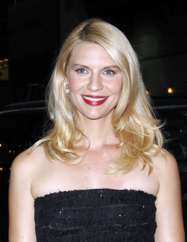 Claire Danes smiled outside of Late Show With David Letterman.