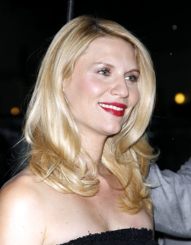 Claire Danes had a smile on her face on her way into Late Show With David Letterman.