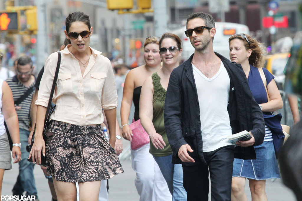 Katie Holmes Shares a City Day With Pal Jeremy Strong