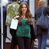 Sofia Vergara With a Baby Bump on Modern Family Set