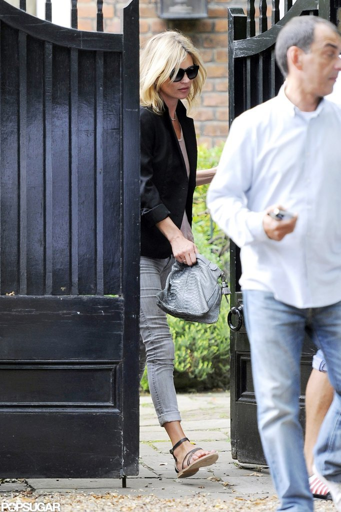Kate Moss Returns to London With Time to Prep For Fashion Week
