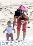 Pink took her daughter, Willow, to an LA beach.