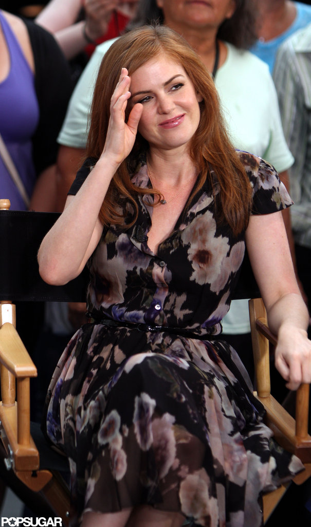 Isla Fisher appeared on Good Morning America.