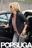 Kate Moss did lunch in London.