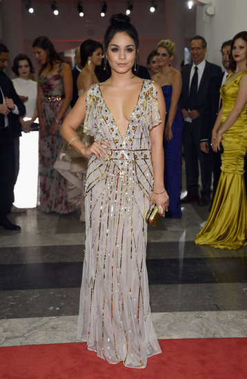 Vanessa Hudgens wowed in a sequin accented gown.