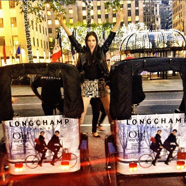 Coco Rocha at Longchamp