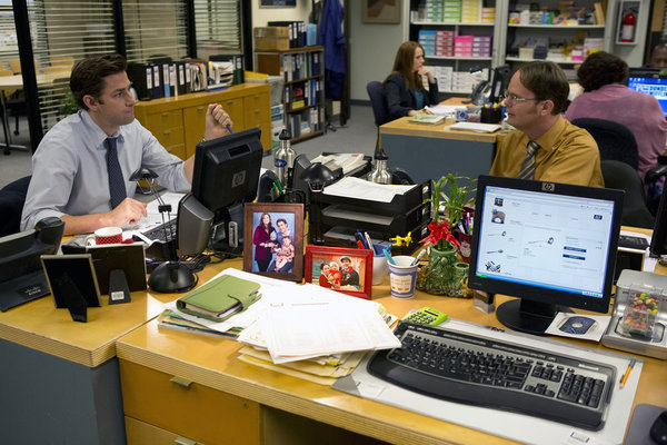 What would The Office be without a little friendly bickering between Jim (John Krasinski) and Dwight?
