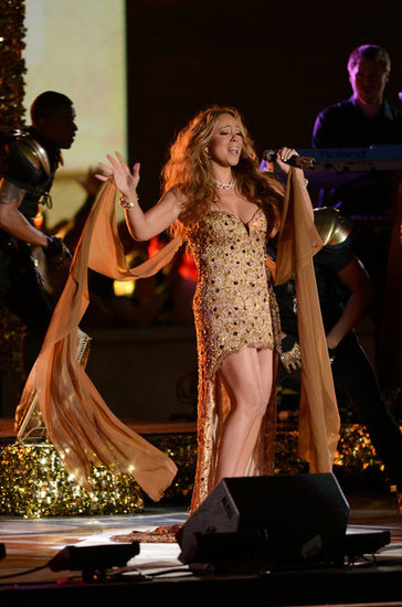 Mariah Carey performed for the NFL Kickoff concert at Rockefeller Center.