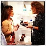 Diane von Furstengberg inspected all the details before shoppers mobbed her stores.  Source: Instagram user cfda