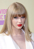 Taylor Swift wore red lips at the VMAs.