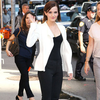 Emma Watson at The Late Show | Pictures
