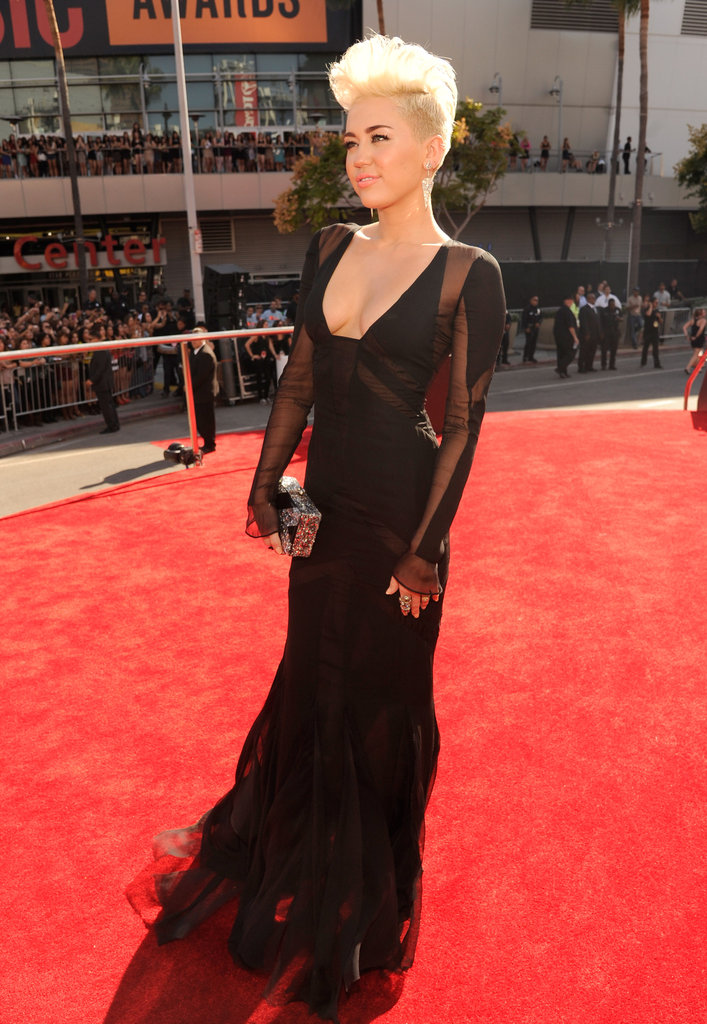 Miley Cyrus rocked an Emilio Pucci gown.