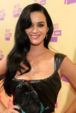 Katy Perry wore her long hair down.