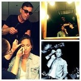 Alicia Keys had her glam squad on hand prior to the show. Source: Instagram user aliciakeys