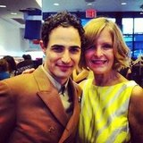 Zac Posen snapped a photo with Scoop NYC's CEO during FNO.  Source: Instagram user scoopnyc