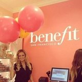 Bachelorette Emily Maynard partied with Benefit.  Source: Instagram user benefitcosmetics