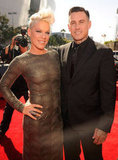 Carey Hart and Pink hit the red carpet together.