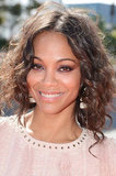 Zoe Saldana smiled at the VMAs.