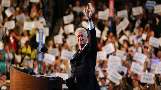 Video: Bill Clinton Charms Crowd and Michelle Obama During DNC Day 2